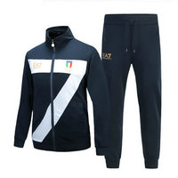 ea7 mens core id mode tracksuit italy flag olympic